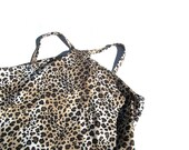 Cheetah Racerfront | 90s vintage cyber club kid hipster exotic animal leopard print racer front halter sleeveless tank top stretch s M small