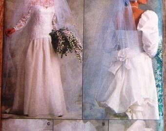 Misses Veil 4 Styles and Headpiece Vintage 1980s Vogue Pattern 9822 UNCUT