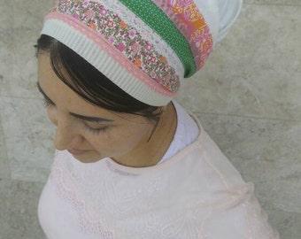 Non Wrap handmade Tichel,Sinar tichel,Mitpachat,head covering,tichel apron, jewish head covering,Just tie in the back by oshrataDesignz