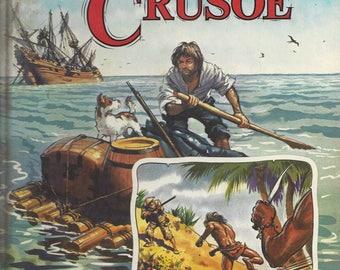 Vintage Daniel Defoe's Robinson Crusoe Children's Book, C1982