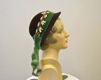 1930s Evelyn Varon Brown Hat