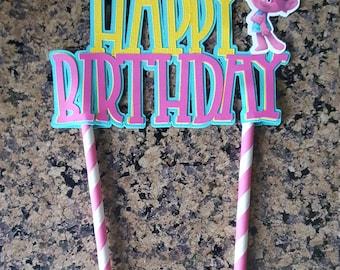 Troll Cake Topper, Trolls Party decorations. Trolls Birthday. Princess Poppy. Centerpiece pick. Cake topper.