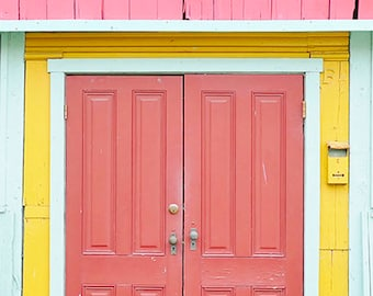 Colorful Shop Door Photography,  Rustic Photography, Wall Art Print
