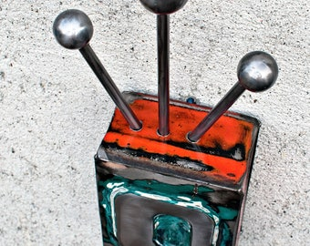 Metal Wall Sculpture 1948 Chevrolet Tailgate Letter O. Atomic. Mid Century.