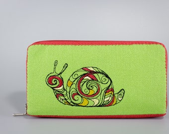 SALE - Embroidered Smartphone Wallet / Fabric Wallet