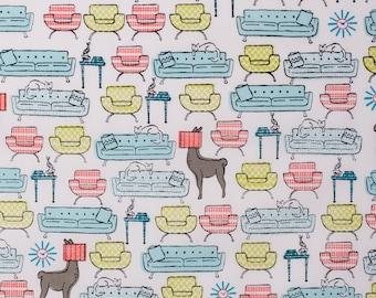 SALE | Certified organic cotton llama fabric - Modern Home by Monaluna  - 1/2 YD