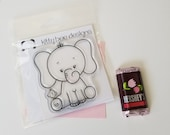 Emilee the Elephant & Cheek Cheek Clear Stamp