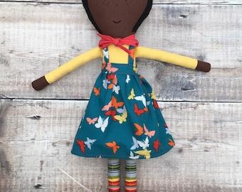 Cloth Doll, Rag Doll, Fabric Doll, Heirloom Doll, Girls Doll, Gifts for Girls, OOAK Doll, Birthday Gift, Handmade Doll - Delilah