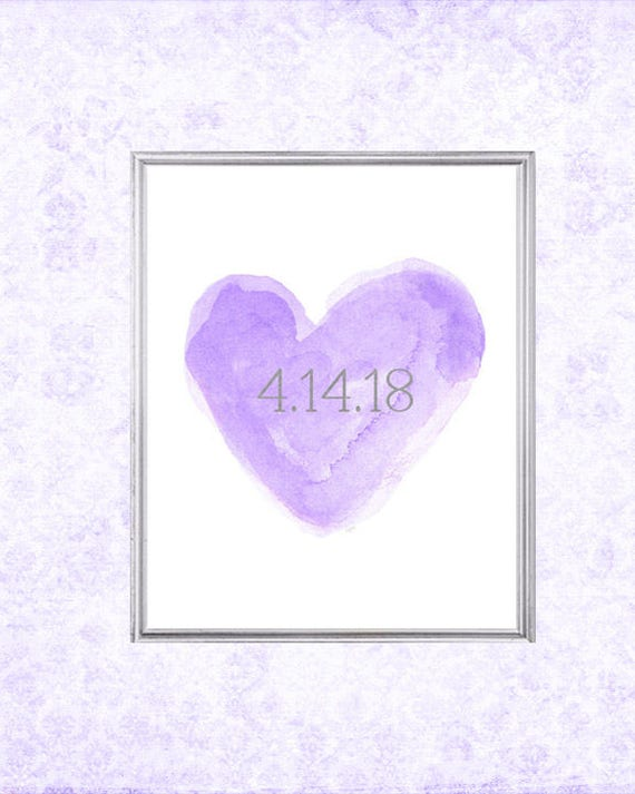 Lavender Wedding Gift, 8x10 Print