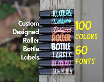 Custom Roller Bottle Labels 10 Ml Roller Bottle Stickers Essential Oil Labels Roller Bottle Decals Glass Bottle Labels DECAL ONLY