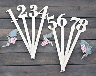 Rustic Wedding Table Numbers - Wooden Table Numbers - Rustic Wedding - Wood Table Numbers - Table Signs - Rustic Table Numbers - Table Cards