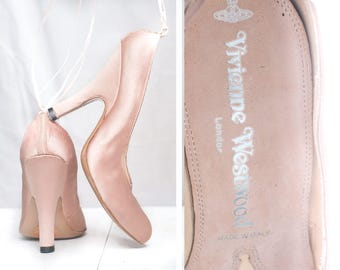 Vintage Authentic Vivienne Westwood Heels Shoes Size 36 EU/5 US Elegant Classic Wedding Designer Shoe Ankle Straps Pumps Heels Made in Italy
