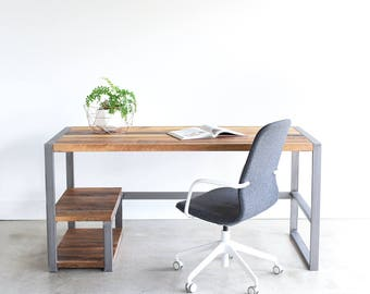 Reclaimed Wood Desk / Industrial Office Desk