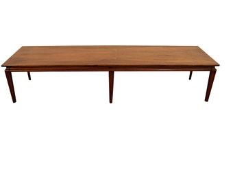 Mid-Century Danish Modern Elongated Walnut Coffee Table #3