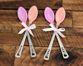 Baby girl gift etsy personalized baby spoons personalized baby girl gift personalized baby gifts for girls baby negle Choice Image