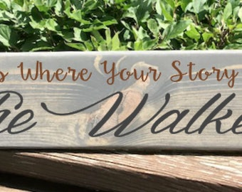 Personalized Home Is Where Your Story Begins // Family Personalized Sign