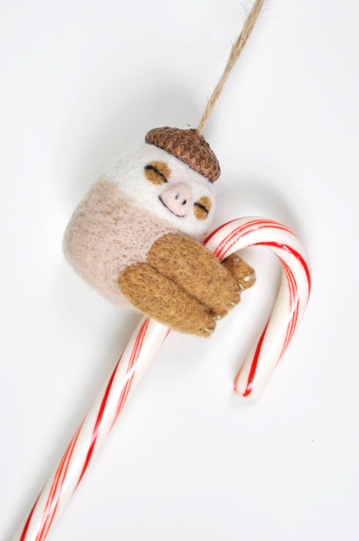 Two Toed Sloth Christmas Ornament Sloth Ornament Sloth Gift