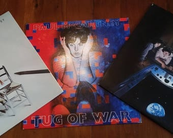 "Paul McCartney/Wings Vintage LP's -""Back to the Egg"", ""Tug of War"", & ""Pipes of Peace"""