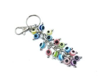 Evil Eye Keychain Spheres, Evil Eye, Evil Eye Key Chain, Hamsa Keychain,  Evil Eye Hamsa (Buy 1 Get 1 FREE & FREE SHIPPING!!!)