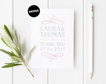 Pretty Wedding Thank You Cards, Wedding Card Set, Traditional Wedding Card, Wedding Thank You Card, Wedding Card Pack, From The Newlyweds,
