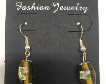 Handmade Gold Drop Earrings