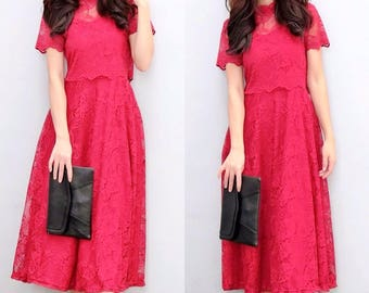 Lace Dress Luxury Maxi Dress Lace Wedding Dress Colthing