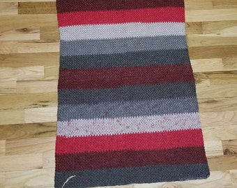 Red and Gray Baby Blanket