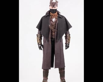 Hunter cosplay costume garb from Bloodborne video game, Attire outfit, Halloween costume