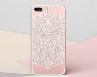 Mandala Flower Phone Cover iPhone 5s Case iPhone 6 Plus Case Floral 6s Plus Case Summer Case S7 Edge Case iPhone X Case Galaxy S8 CG1572