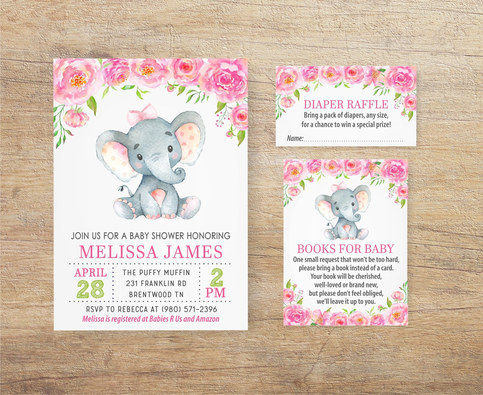 Irresistible image pertaining to printable elephant baby shower invitations