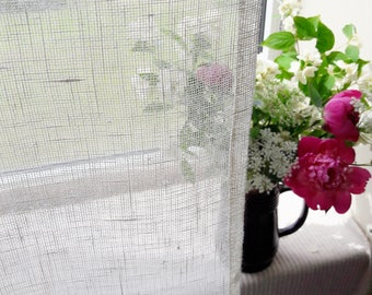 Linen curtains Semi sheer Linen home Gauze linen curtains Windows decor White linen curtains  Curtains panels Linen drapery Natural curtain