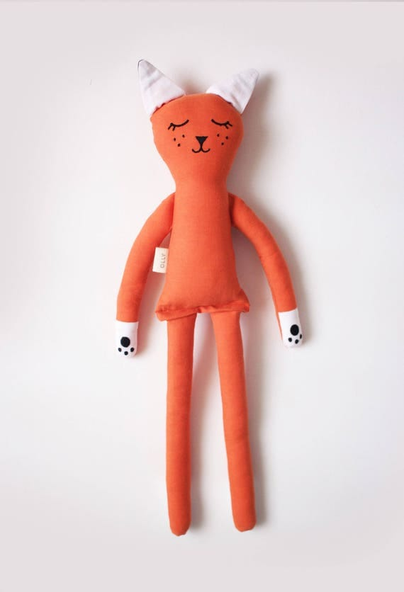 Fantastic Little Fox soft toy for kids: handmade with eco-friendly materials