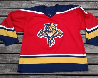 Vintage 90's Florida Panthers NHL hockey jersey CCM Maska Made in Canada XL