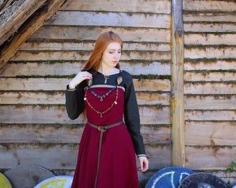 "Viking dress ""Morgana"" with celtic trim; celtic dress; viking clothes; medieval dress"