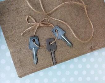 Vintage Keys Set of 3 Keys Old Keys Metal keys Soviet Keys Made in USSR Steampunk Style Rustic Decor Original Decoration industrial iron key