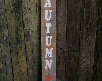 Autumn Reclaimed Pallet Leaning sign