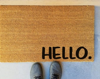 custom outdoor mat hello coir door mat exterior door mat hand painted