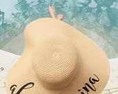 Custom Floppy Hat | Custom Sun Hat | Custom Floppy Sun Hat | Bachelorette Party Gift | Sun Hat | Beach Hat | Bridal Party Sun Hat