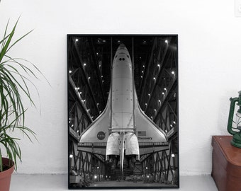Space Shuttle poster / Space craft / Space poster / Space art / Space print / Outer space / Space wall decor / Nasa poster / Astronomy print