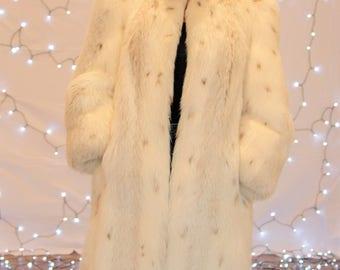 Lynx Fox Coat, Fox Fur Coat, Lynx Fox Fur, 1980's Lynx Fox Coat