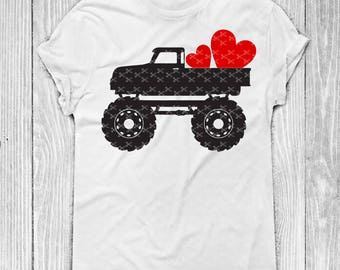 Boy Valentine SVG, PNG, DXF, Eps Cutting Files, Valentine Truck Svg, Kids Valentines Svg, Valentine Shirts for Boys, Valentine's Svg