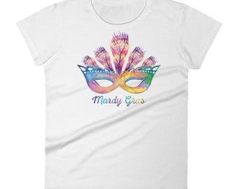 Mardi Gras Mask 2018 T-Shirt - Women's Short Sleeve Shirt