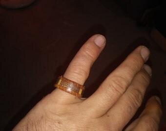 Walnut Oak And Maple wood ring