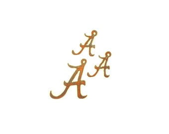 Alabama A Rusty Metal Pendant/Charm And Earrings 3-Piece Set