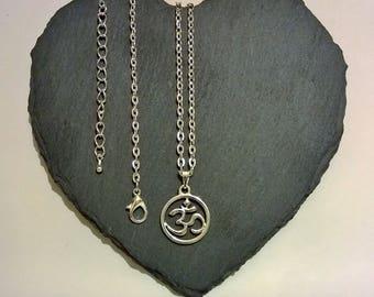 Silver Om Boho Charm Necklace