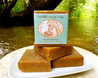 "Soap - ""Oatmeal Honey Horse"" - Animal Soap, Horse Soap, Oatmeal Honey Soap, Exfoliating Soap, Gift Soap, Oatmeal Soap, Cold Process"