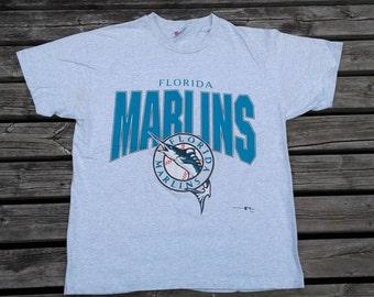 Vintage 1993 Florida Marlins MLB grey t-shirt Made in USA large