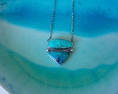 The Inlet Necklace // Beach Town Collection // Double Turquoise, Sterling Silver