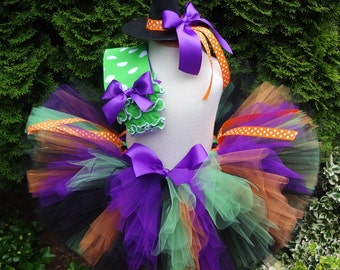 Witch Tutu, Witch Costume, Halloween Tutu, Baby, Baby Costume, Witch Outfit, Toddler Costume, Child Witch Costume, Girls Costume, Purple