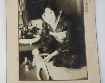 Japanese old photo, Omeshi kimono cloth Ad/catalog, ref9, Japanese actress Kumeko Urabe